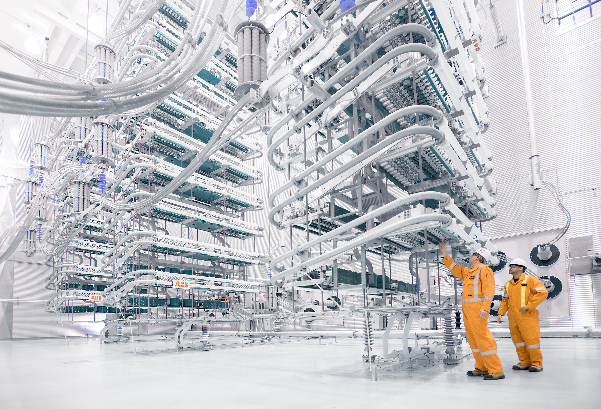 HVDC Valve Hall by corporate industrial photographer Kristopher Grunert