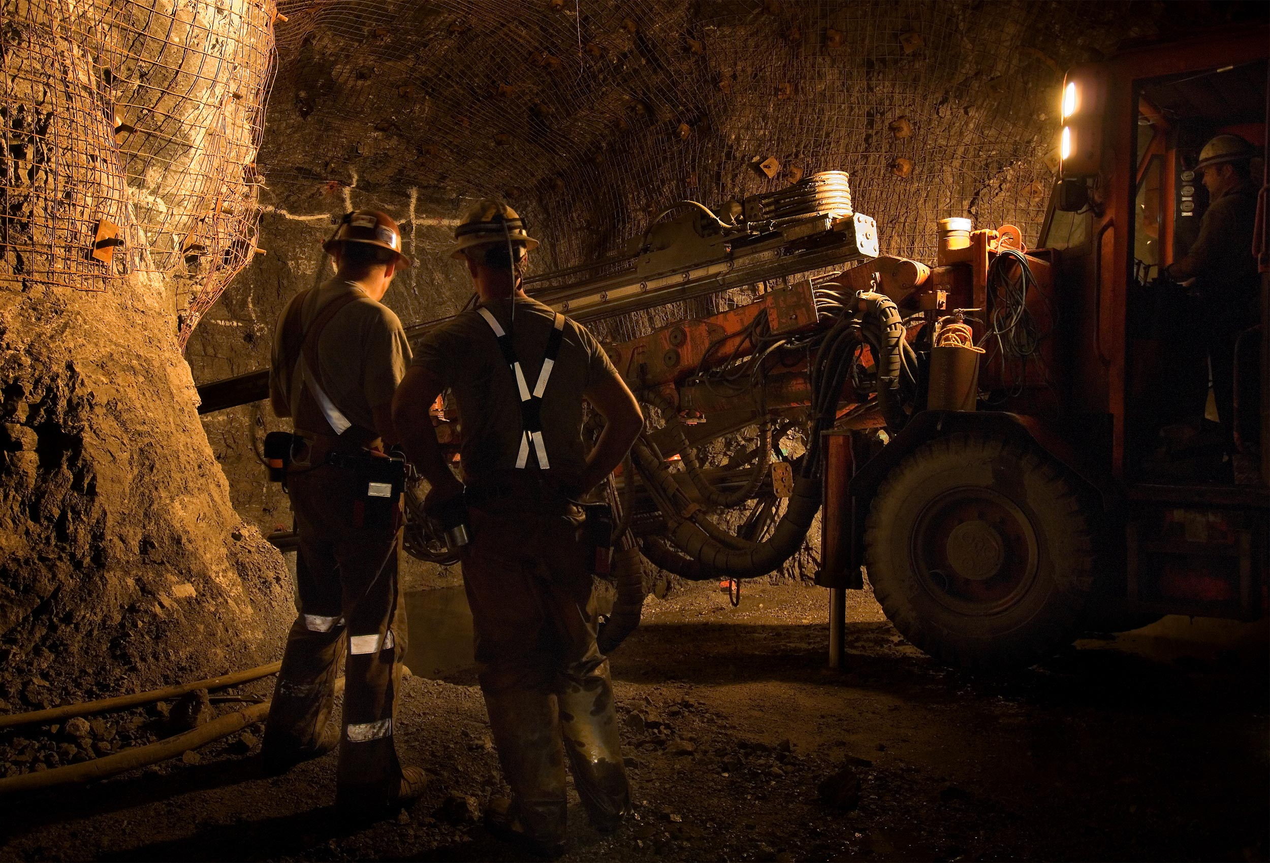 Underground zinc mine by corporate industrial photographer Kristopher Grunert