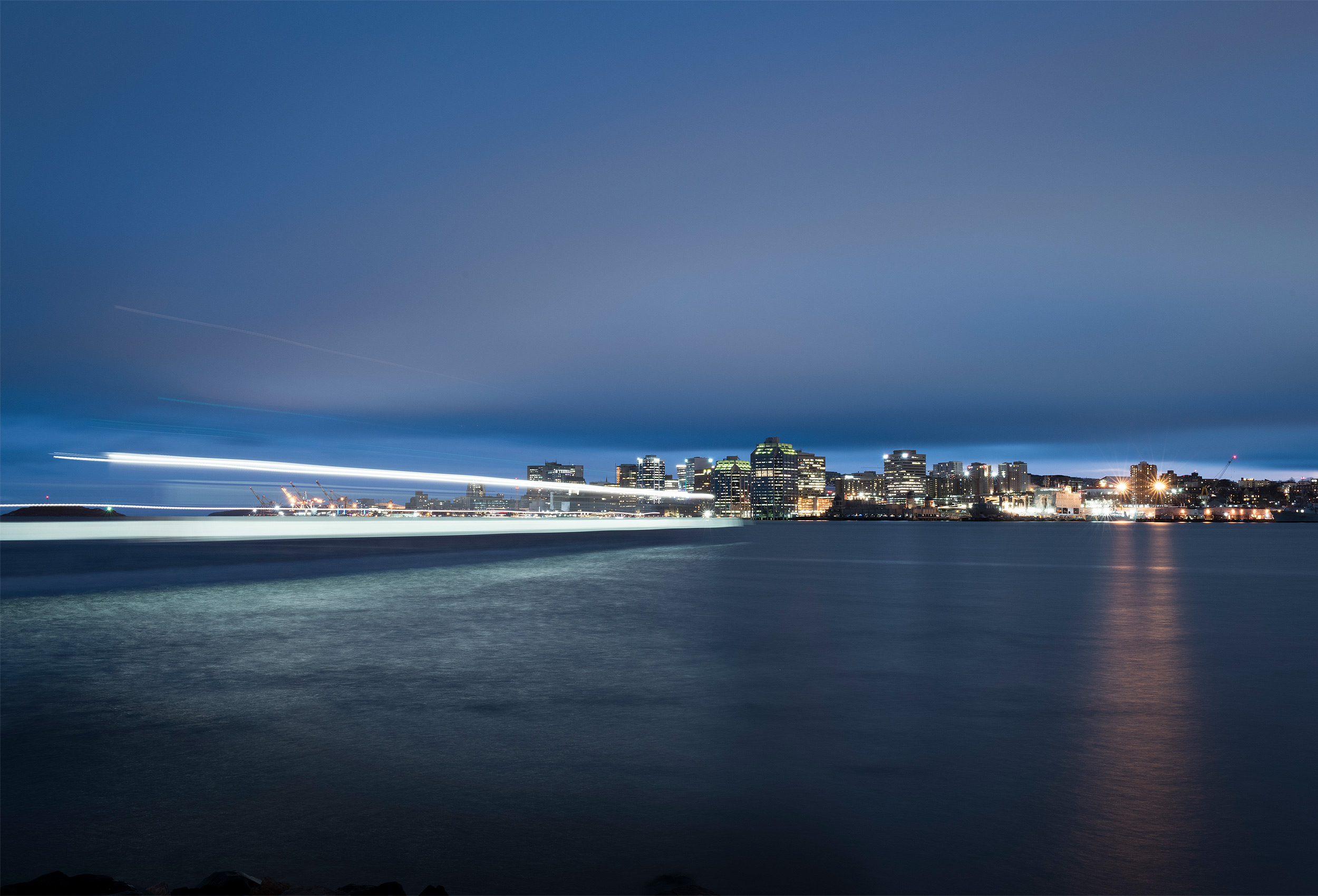 Halifax at night by cityscape photographer Kristopher Grunert
