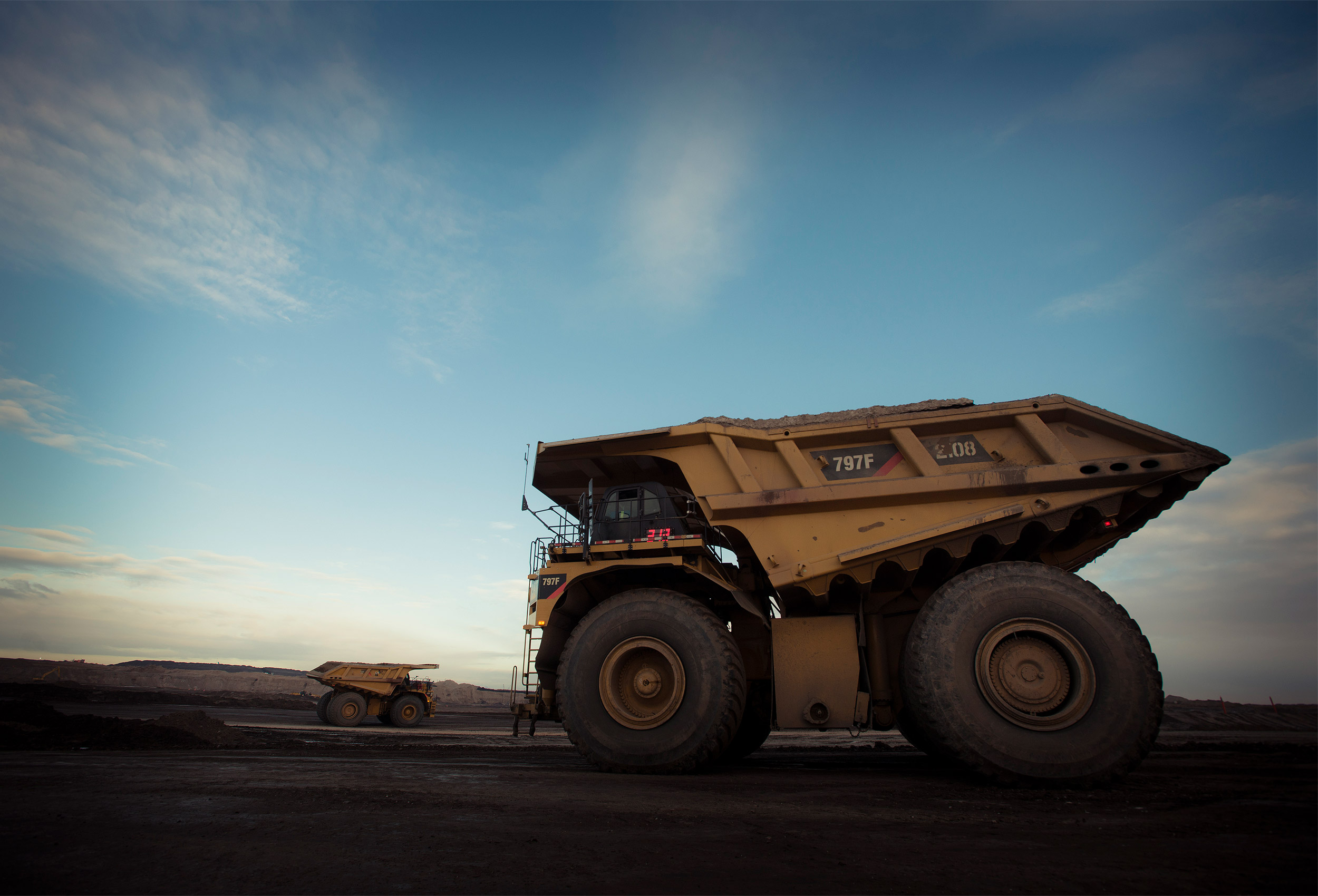 Oil Sands mining truck  by corporate industrial photographer Kristopher Grunert