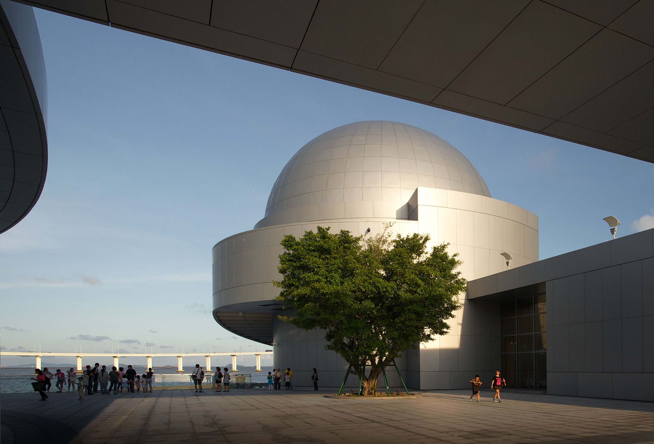 Exterior of Macau Science Centre by architectural photographer Kristopher Grunert