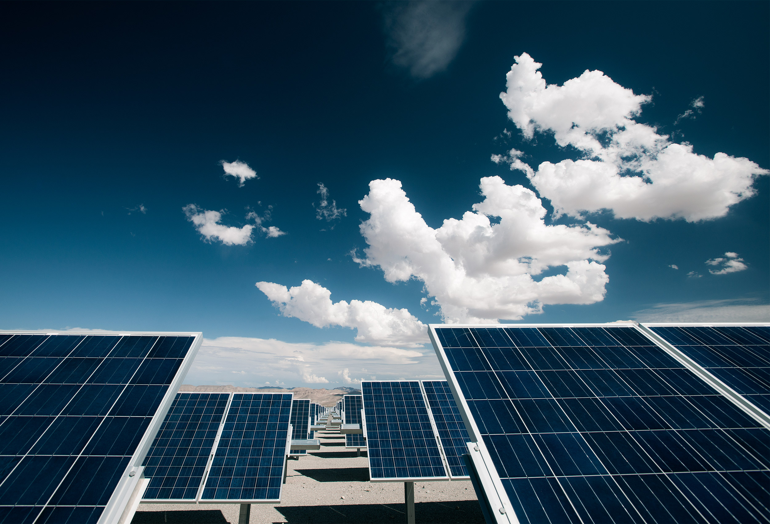 Solar farm by corporate industrial photographer Kristopher Grunert