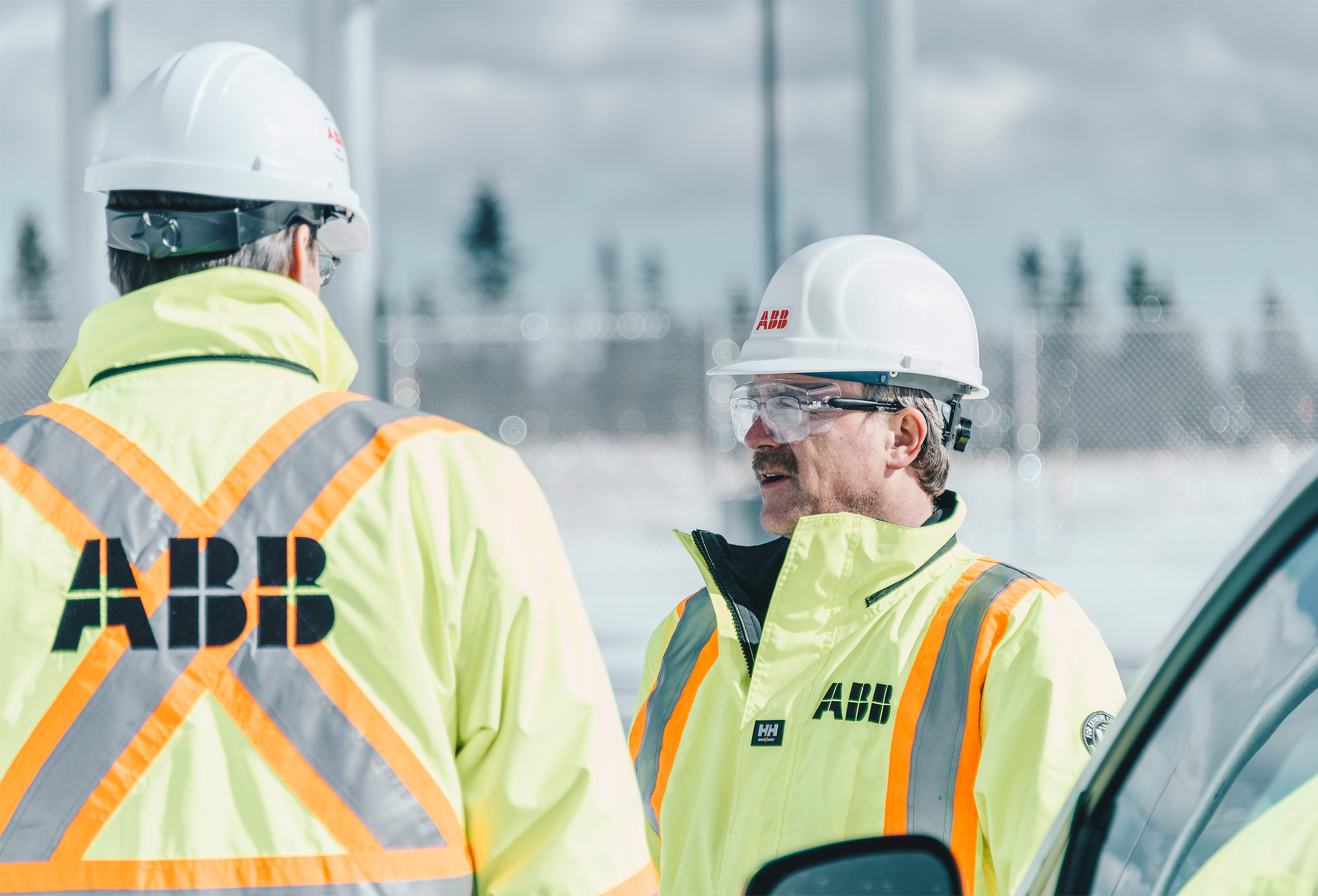 ABB Workers at Maritime Link energy project in Newfoundland Canada by corporate industrial photographer Kristopher Grunert.