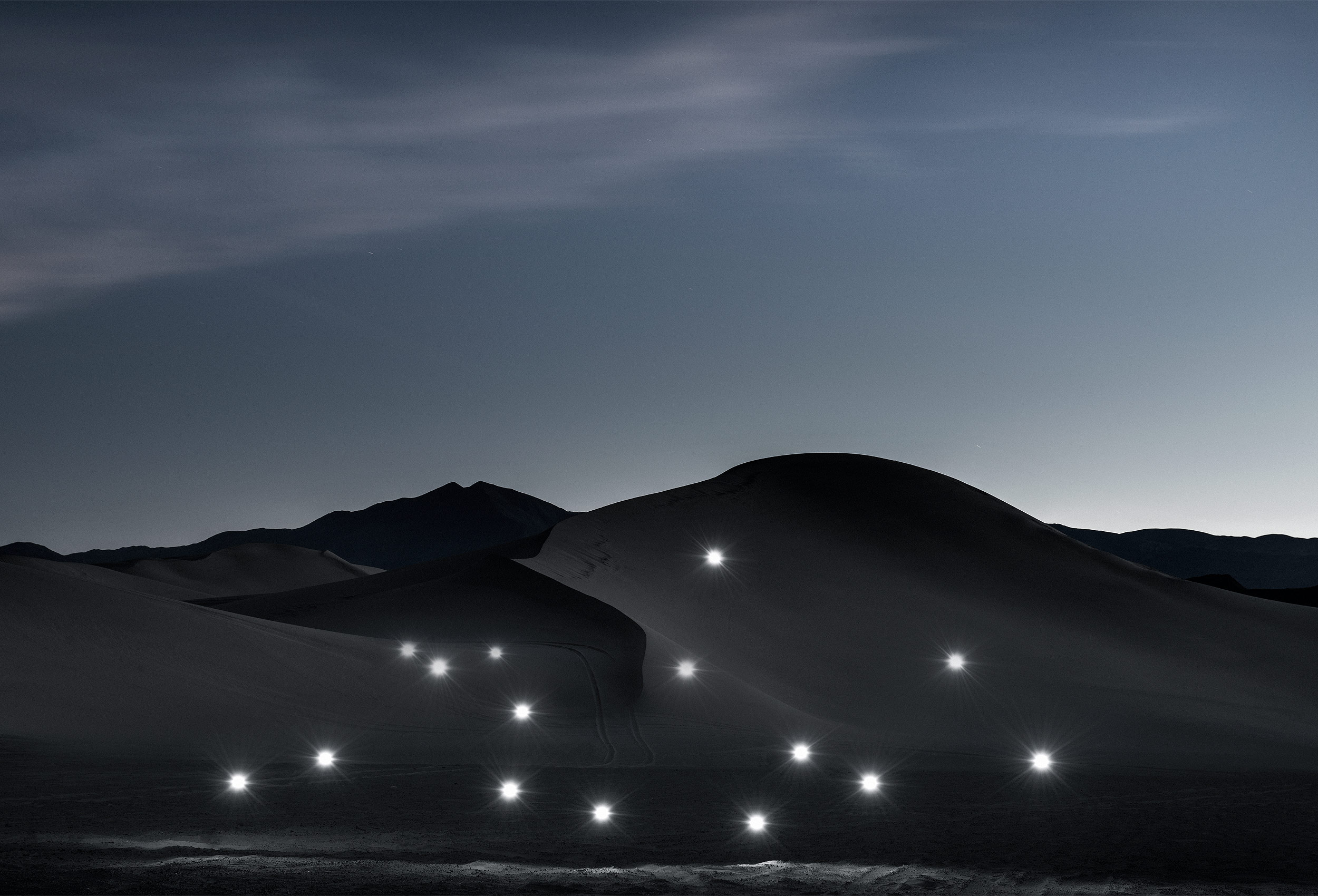 Mystical photograph of Dumont Dunes by fine art photographer Kristopher Grunert